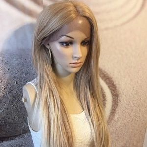 Honey blonde lace front wig
